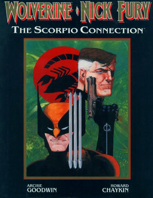 Couverture de Marvel Graphic Novel (Marvel comics - 1982) -50- Wolverine/Nick Fury: The Scorpio Connection