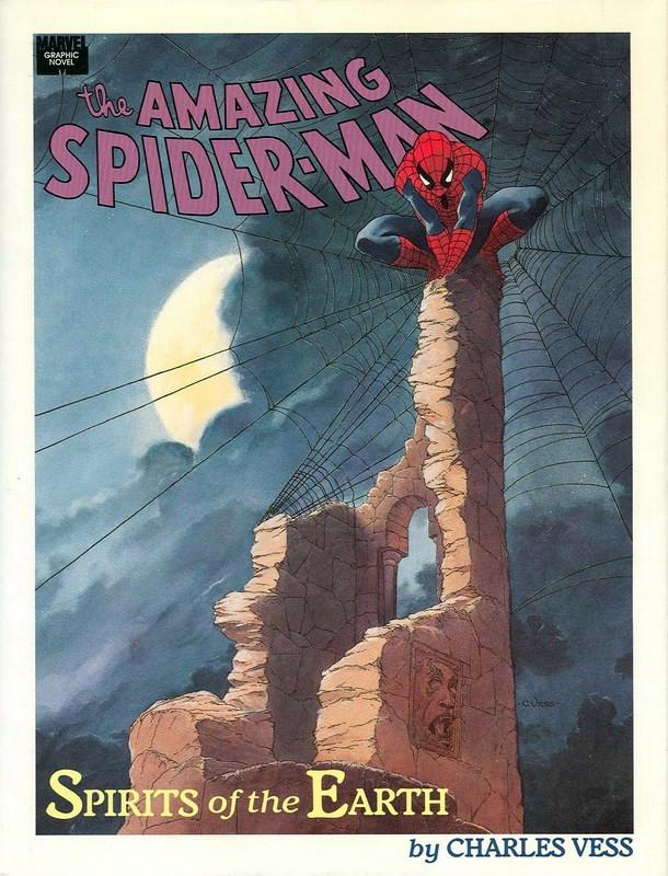 Couverture de Marvel Graphic Novel (Marvel comics - 1982) -63- Spider-Man: Spirits of the Earth