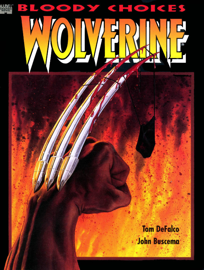 Couverture de Marvel Graphic Novel (Marvel comics - 1982) -67- Wolverine: Bloody Choices