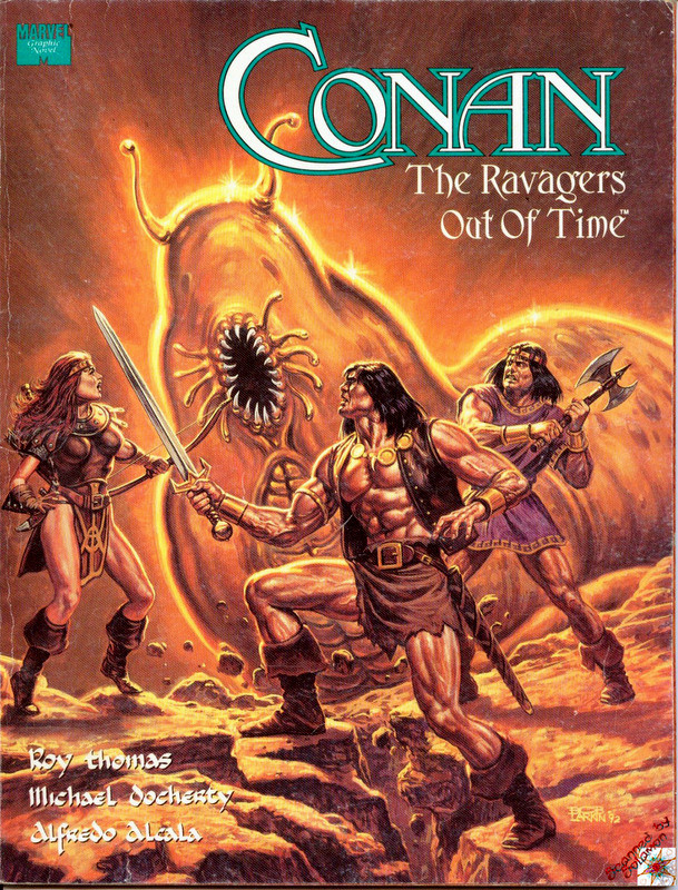 Couverture de Marvel Graphic Novel (Marvel comics - 1982) -73- Conan: The Ravagers Out of Time