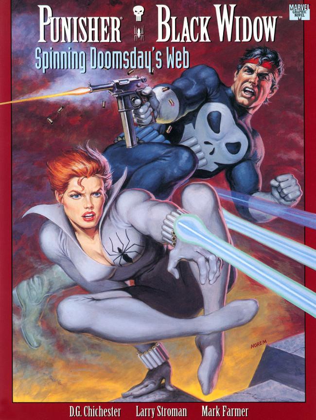Couverture de Marvel Graphic Novel (Marvel comics - 1982) -74- Punisher/Black Widow: Spinning Doomsday's Web