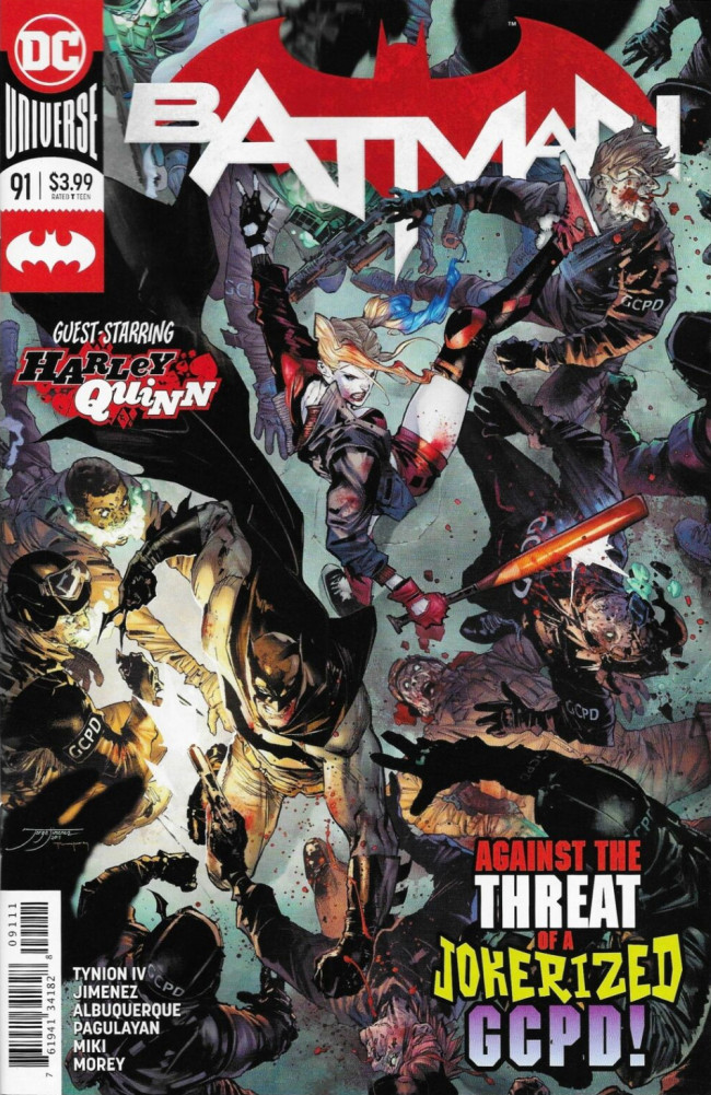 Couverture de Batman (DC Comics - 2016) -91- Their Dark Designs, Part Six