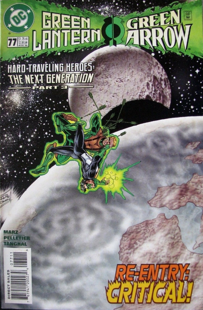 Couverture de Green lantern (1990) -77- Hard-Traveling Heroes: The Next Generation, Part 3: The Next Generation