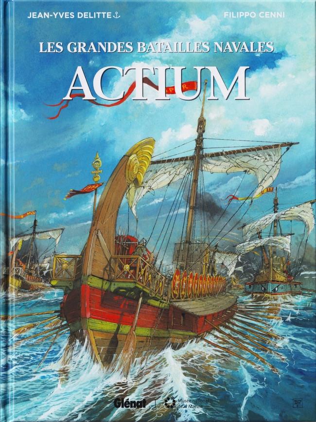 Couverture de Les grandes batailles navales -13- Actium