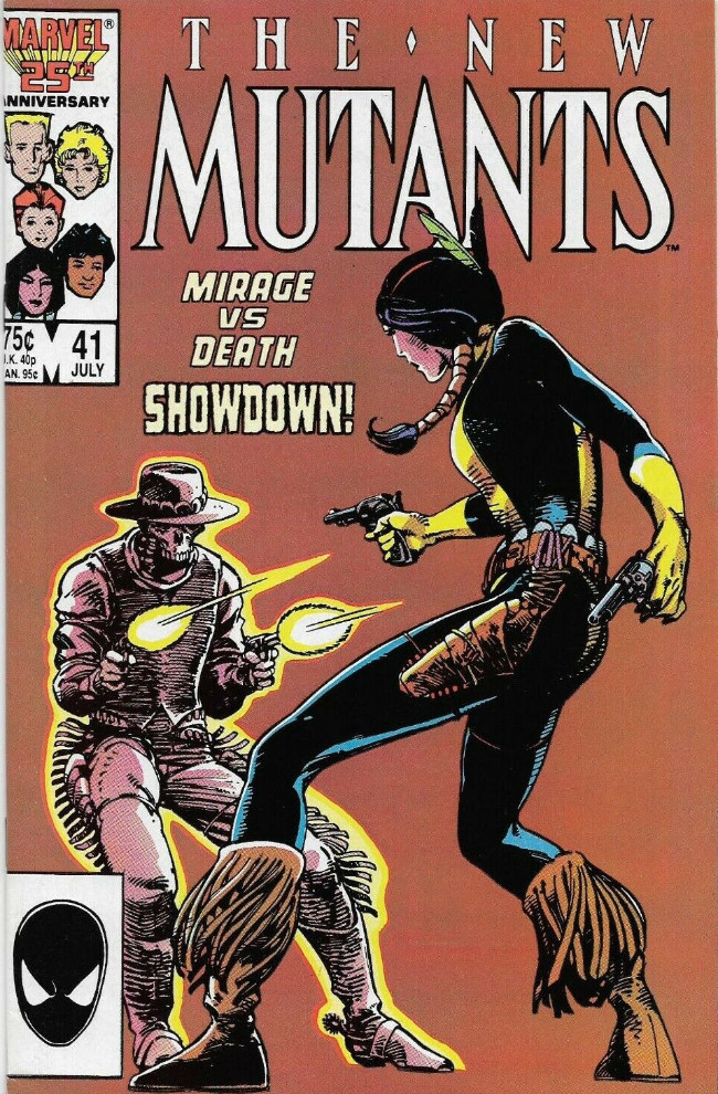 Couverture de New Mutants (The) (1983) -41- Mirage vs Death Showdown!