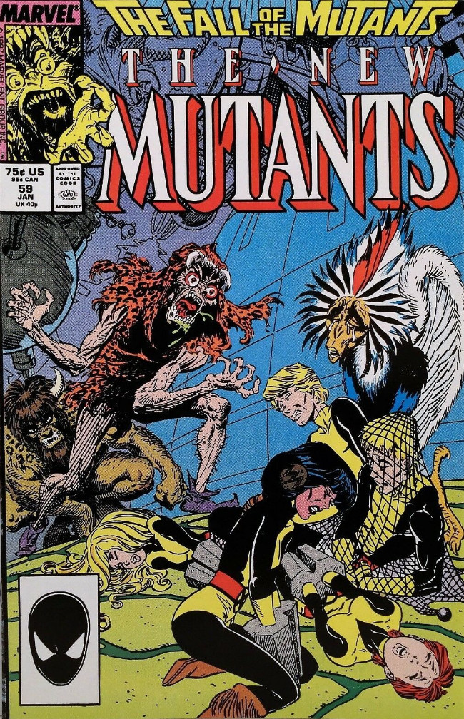 Couverture de New Mutants (The) (1983) -59- Fang and Claw!