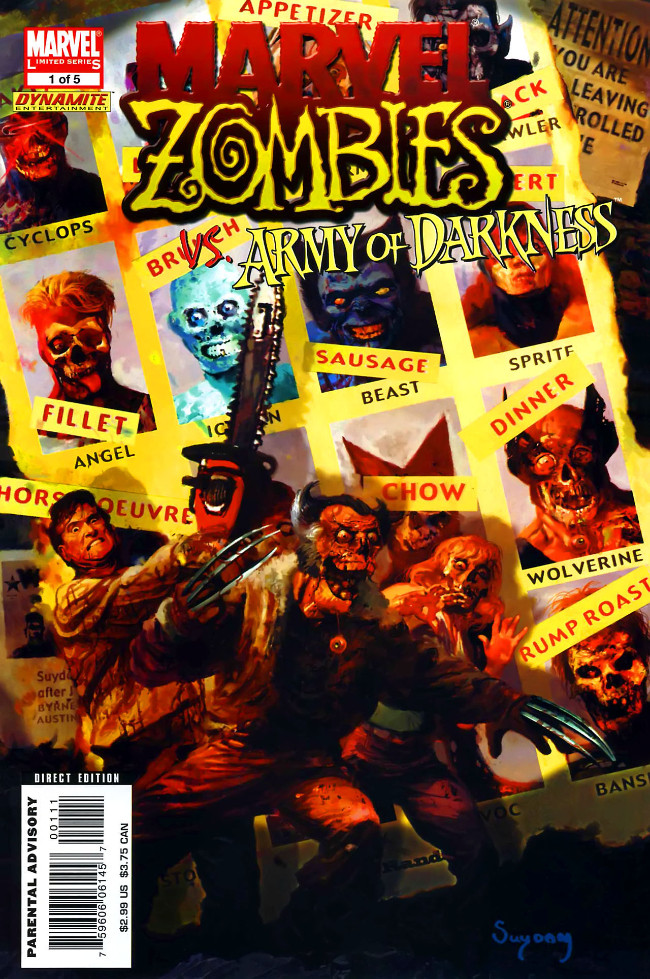 Couverture de Marvel Zombies Vs. Army of Darkness (Marvel/Dynamite - 2007) -A- Issue # 1