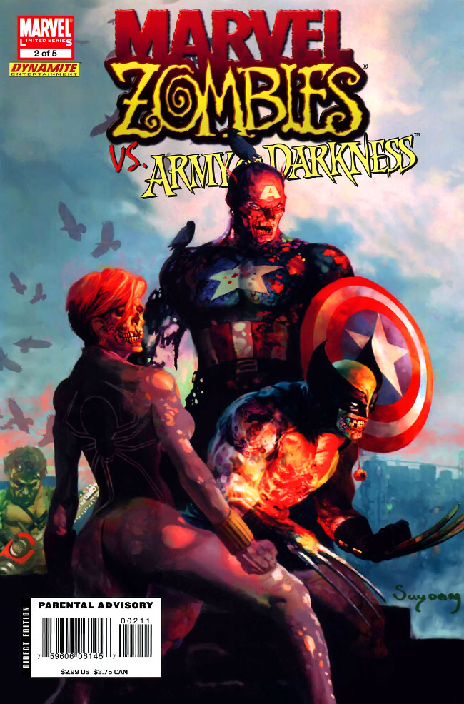 Couverture de Marvel Zombies Vs. Army of Darkness (Marvel/Dynamite - 2007) -A- Issue # 2