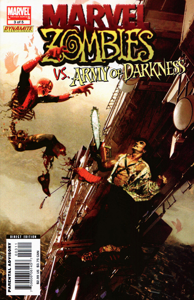 Couverture de Marvel Zombies Vs. Army of Darkness (Marvel/Dynamite - 2007) -A- Issue # 3
