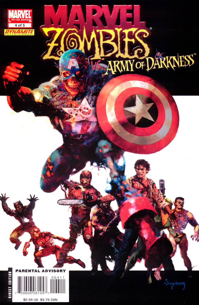 Couverture de Marvel Zombies Vs. Army of Darkness (Marvel/Dynamite - 2007) -A- Issue # 4