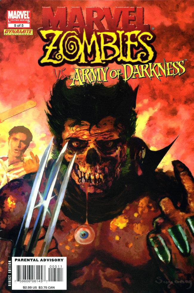 Couverture de Marvel Zombies Vs. Army of Darkness (Marvel/Dynamite - 2007) -A- Issue # 5