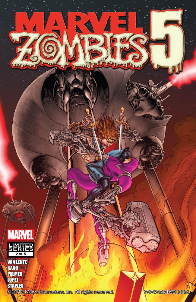 Couverture de Marvel Zombies Vol.5 (Marvel Comics - 2010) -2- Issue # 2