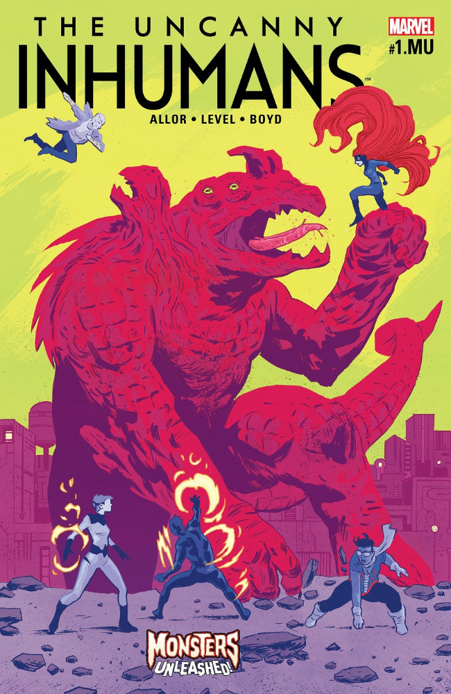 Couverture de Monsters Unleashed Vol.1 (Marvel comics - 2017) -MU- Uncanny Inhumans/Monsters Unleashed
