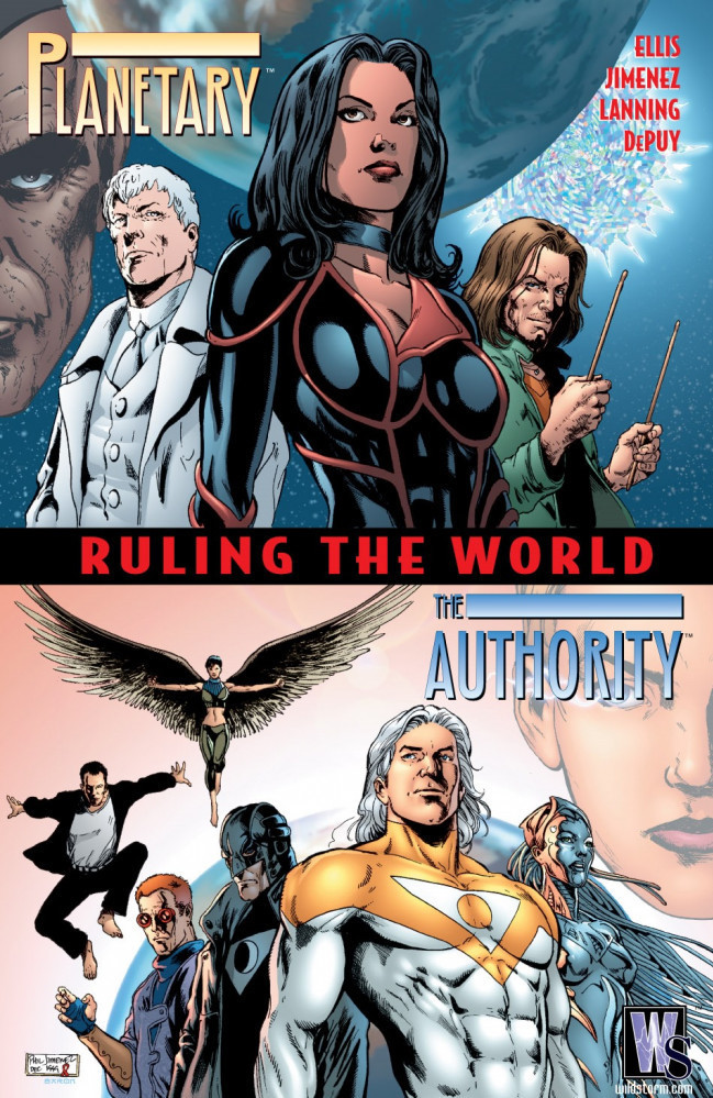 Couverture de Planetary: Crossing Worlds (2004) - Planetary/The Authority: Ruling The World