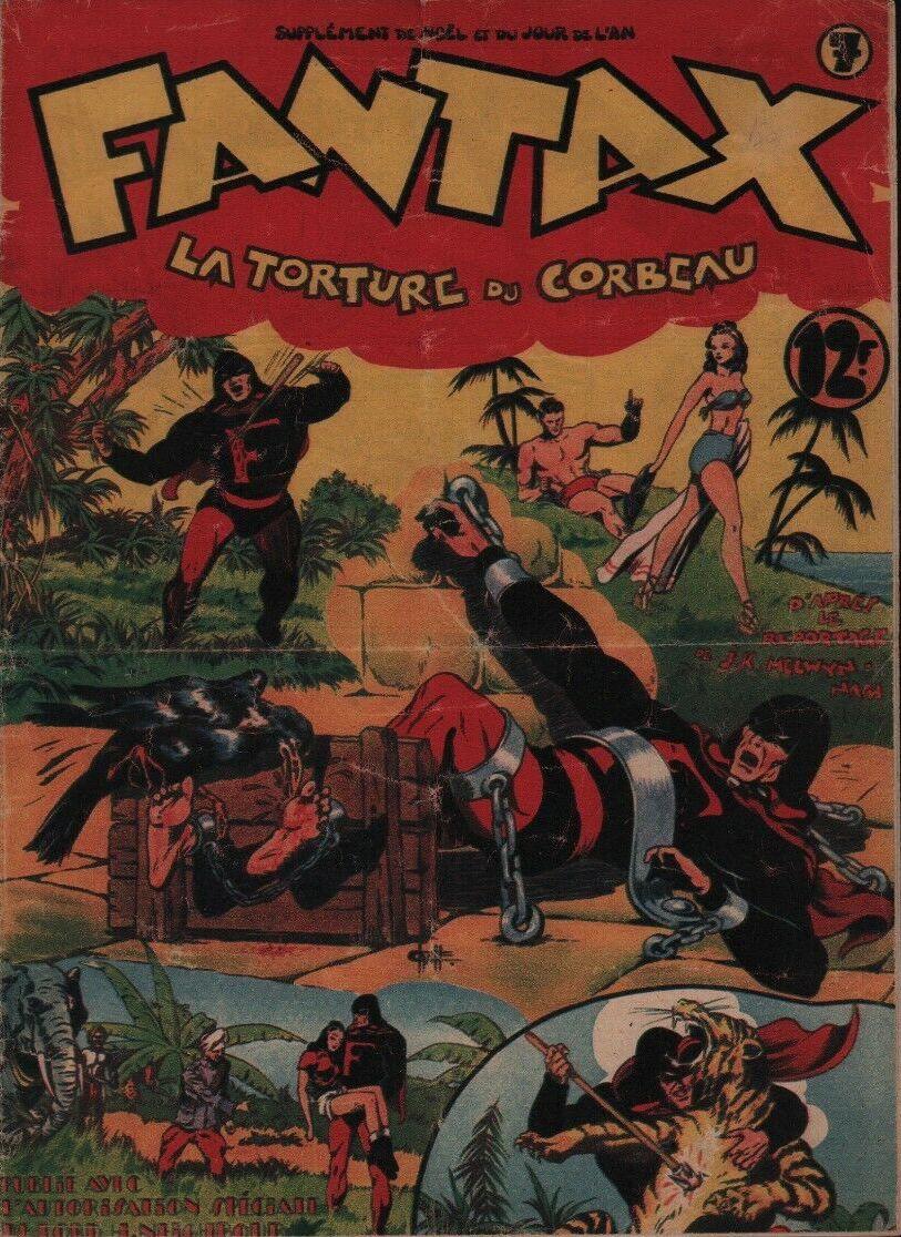 Couverture de Fantax (1re série) -7- La Torture du Corbeau