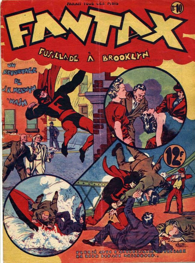 Couverture de Fantax (1re série) -10- Fusillade à Brooklyn