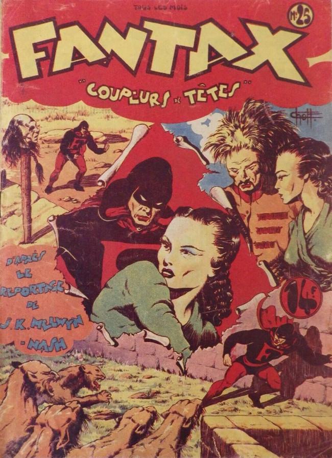 Couverture de Fantax (1re série) -25- Coupeurs de Têtes