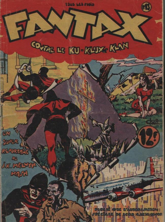 Couverture de Fantax (1re série) -13- Fantax contre le Ku-Klux-Klan