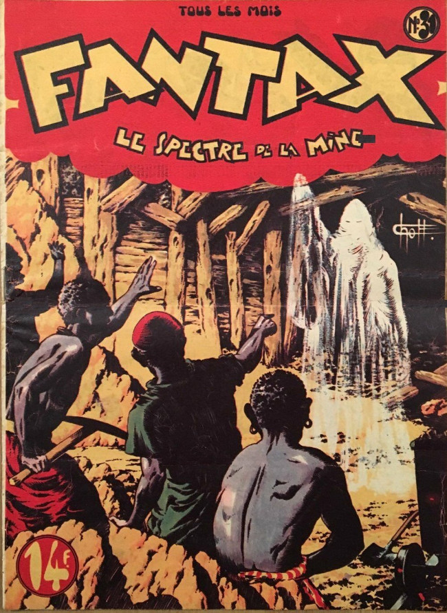 Couverture de Fantax (1re série) -31- Le Spectre de La Mine