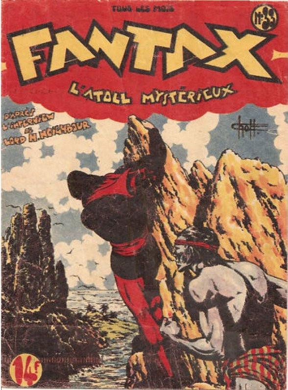 Couverture de Fantax (1re série) -33- L'Atoll Mystérieux