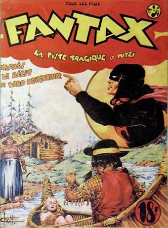 Couverture de Fantax (1re série) -36- La Piste Tragique et Mitzi