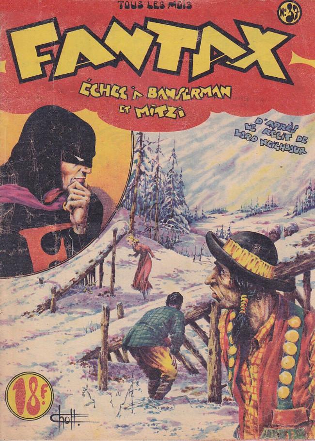 Couverture de Fantax (1re série) -37- Échec à Banserman et Mitzi