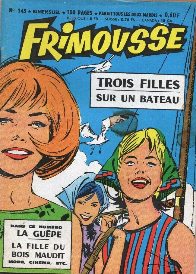 Couverture de Frimousse et Frimousse-Capucine -145- Trois filles sur un bateau