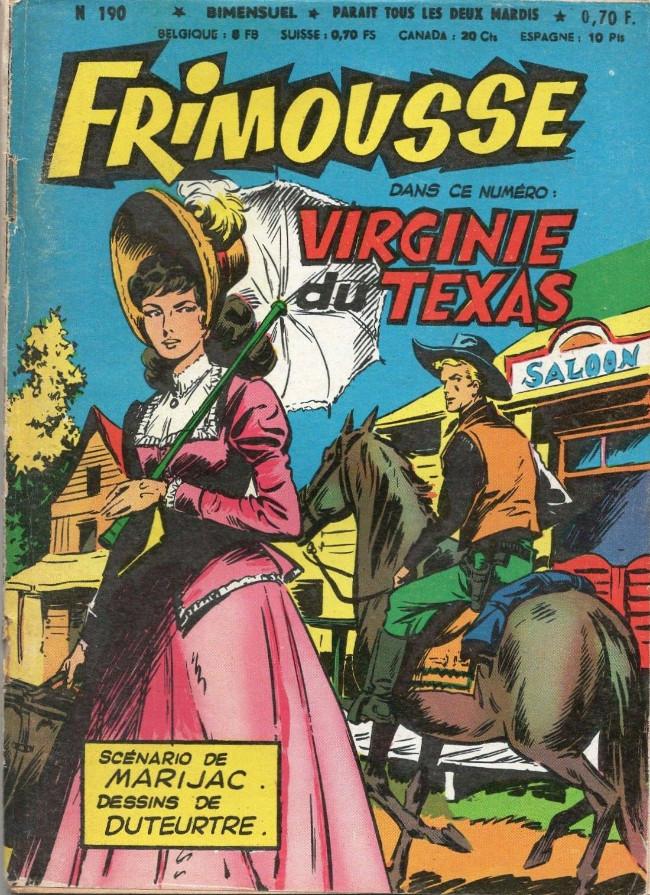 Couverture de Frimousse et Frimousse-Capucine -190- Virginie du Texas