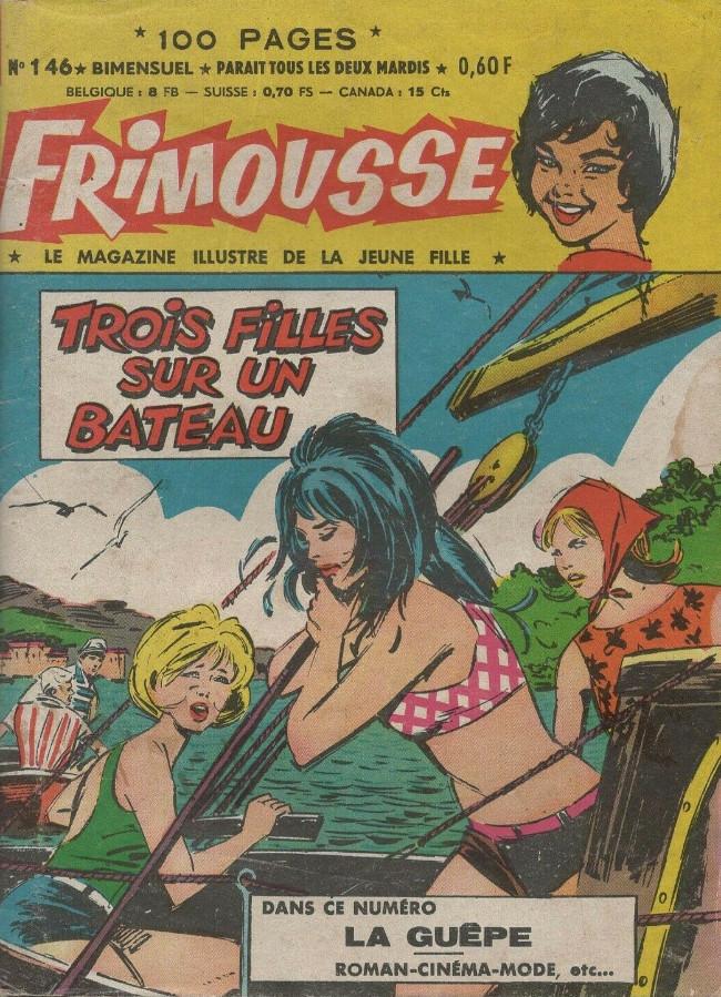 Couverture de Frimousse et Frimousse-Capucine -146- Trois filles sur un bateau