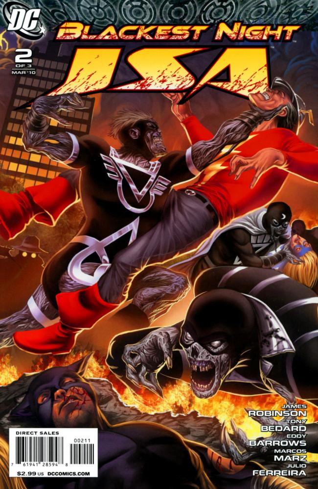 Couverture de Blackest Night: JSA (2010) -2- Troubled Souls