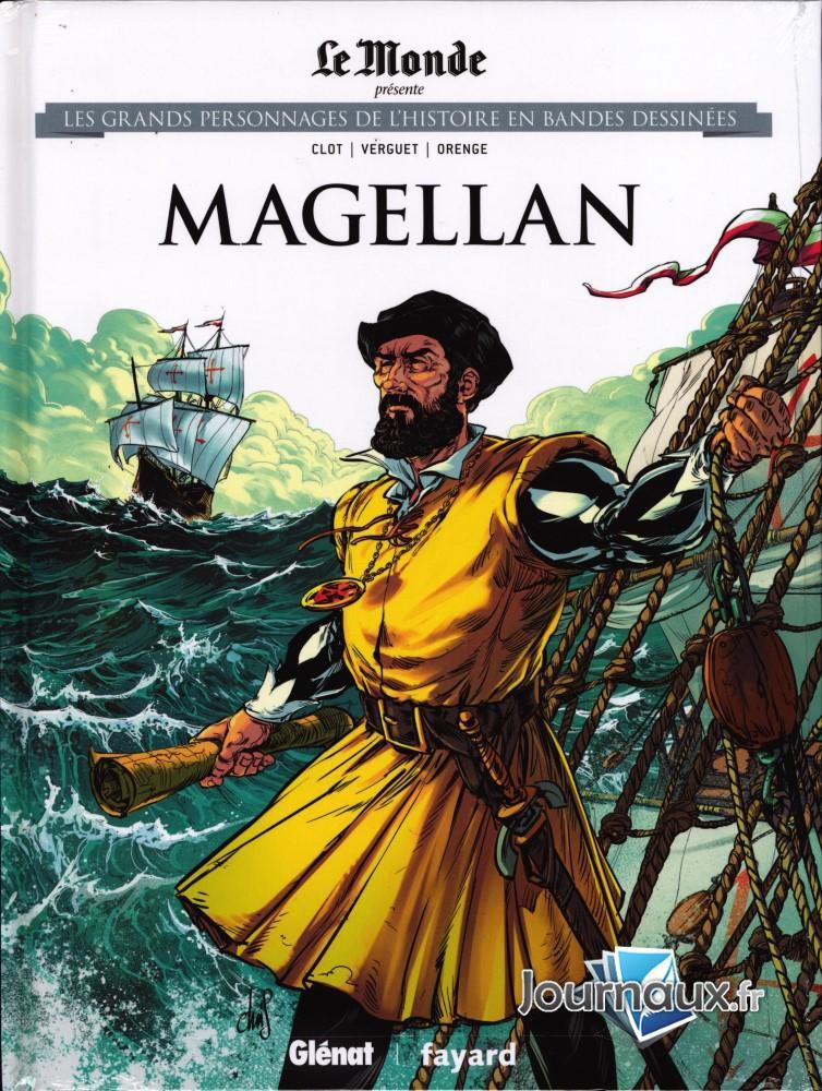 Couverture de Les grands Personnages de l'Histoire en bandes dessinées -33- Magellan