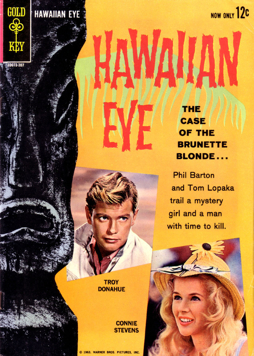 Couverture de Movie comics (Gold Key) -307- Hawaiian Eye: The Case of the Brunette Blonde