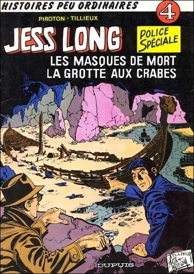 Couverture de Jess Long -4- Les masques de mort - La grotte aux crabes