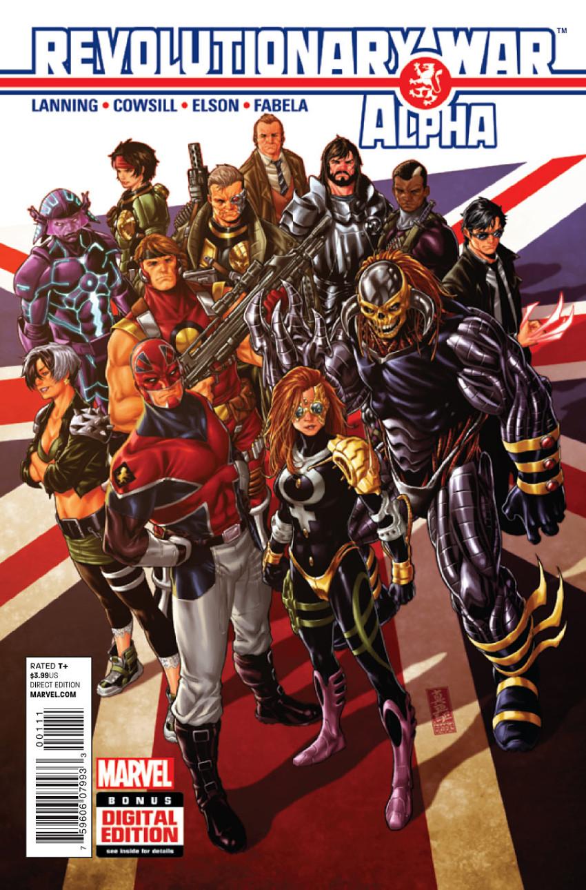 Couverture de Revolutionary War (Marvel Comics - 2014) -01- Revolutionary War: Alpha