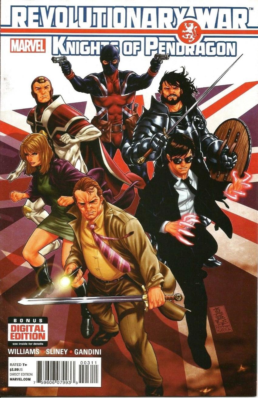 Couverture de Revolutionary War (Marvel Comics - 2014) -03- Revolutionary War: Knights of Pendragon