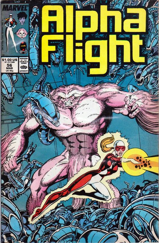 Couverture de Alpha Flight (Marvel comics - 1983) -56- Have You Ever Heard a Spaceship Scream? Warped