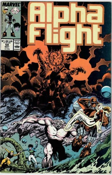 Couverture de Alpha Flight (Marvel comics - 1983) -58- Well, You Can Bet Your Bones It's Not on Liveworld