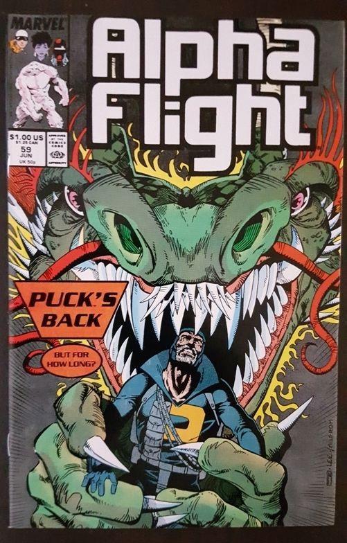 Couverture de Alpha Flight (Marvel comics - 1983) -59- Comes a Dragon!