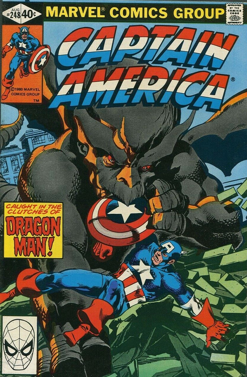 Couverture de Captain America (Marvel comics - 1968) -248- Dragon Man!