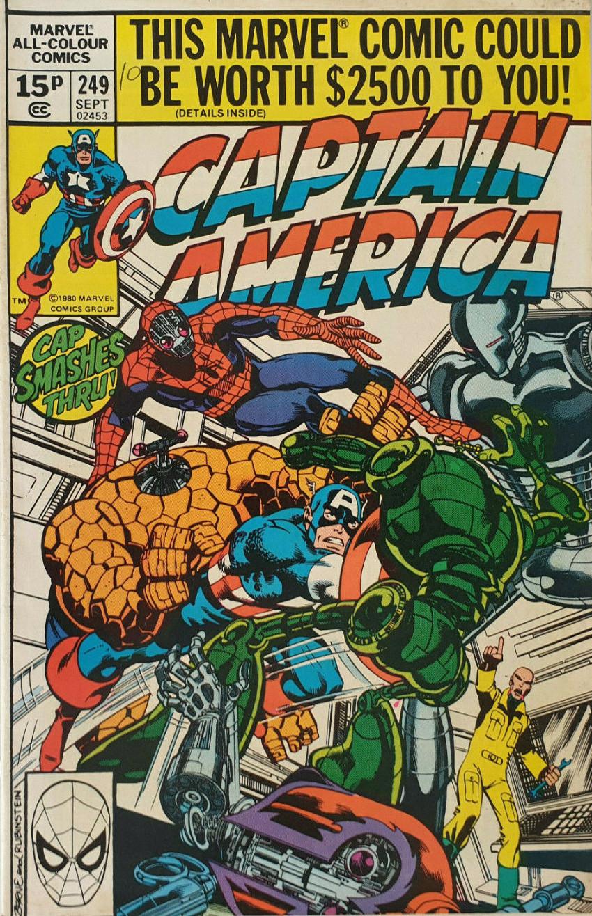 Couverture de Captain America (Marvel comics - 1968) -249- Death, Where Is Thy Sting?
