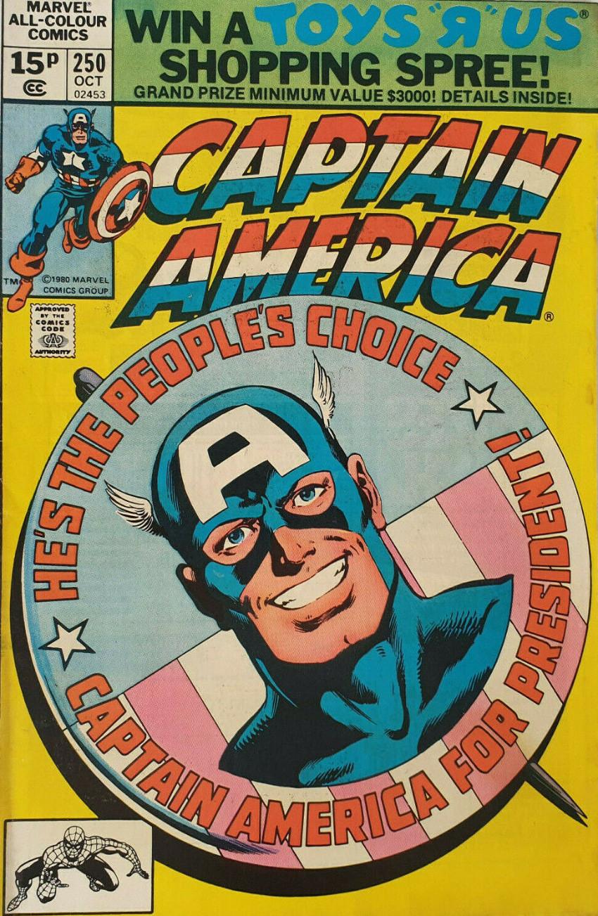 Couverture de Captain America (Marvel comics - 1968) -250- Cap for President!