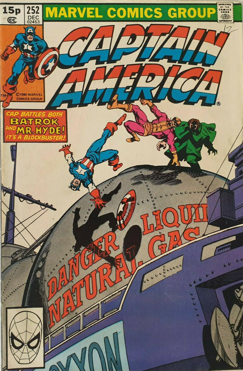 Couverture de Captain America (Marvel comics - 1968) -252- Cold Fire!
