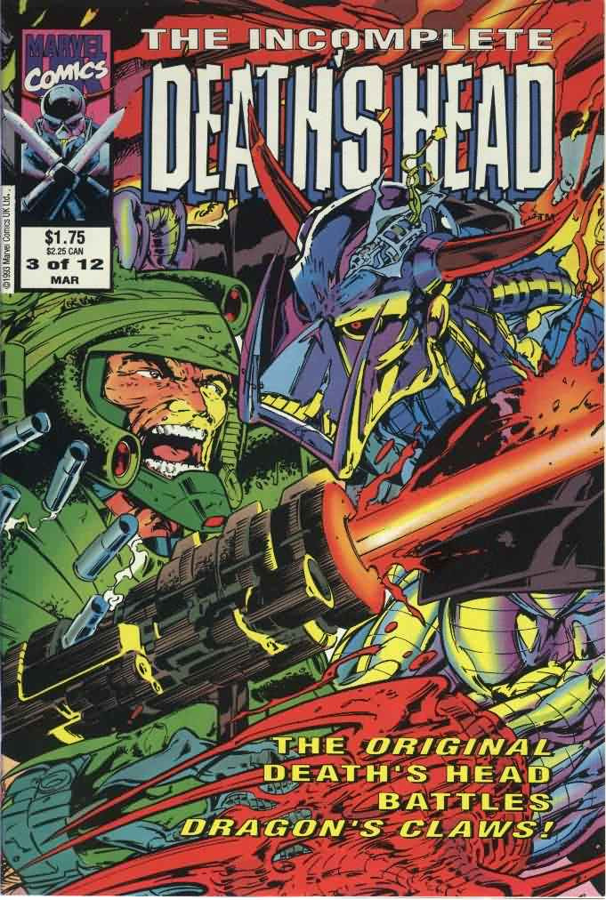 Couverture de Death's Head (The Incomplete) (Marvel UK - 1993) -3- Issue # 3
