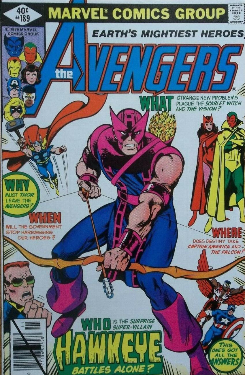 Couverture de Avengers Vol. 1 (Marvel Comics - 1963) -189- Wings and Arrows!