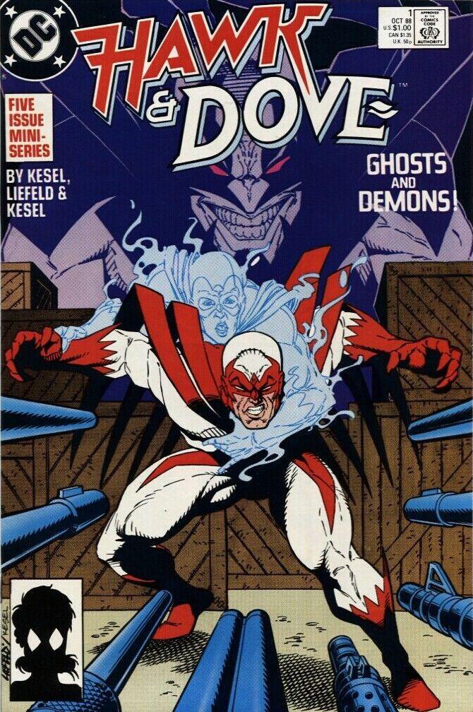 Couverture de Hawk & Dove (1988) -1- Ghosts and Demons