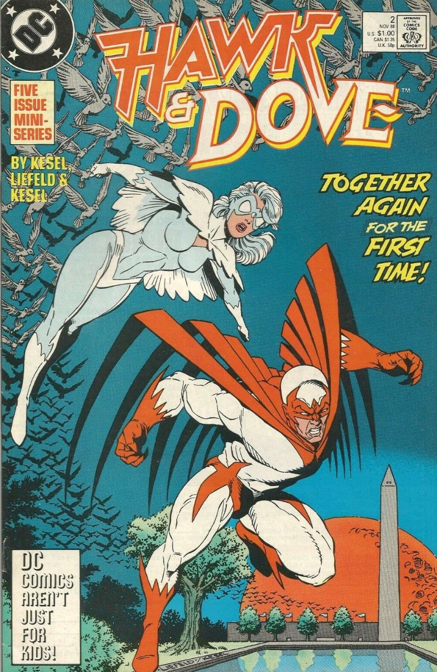 Couverture de Hawk & Dove (1988) -2- Together Again for the First Time