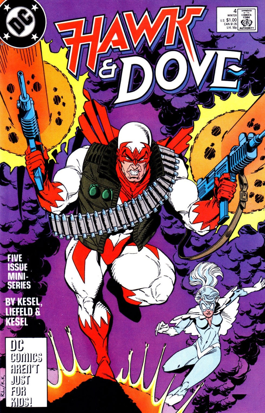 Couverture de Hawk & Dove (1988) -4- Plan of Attack