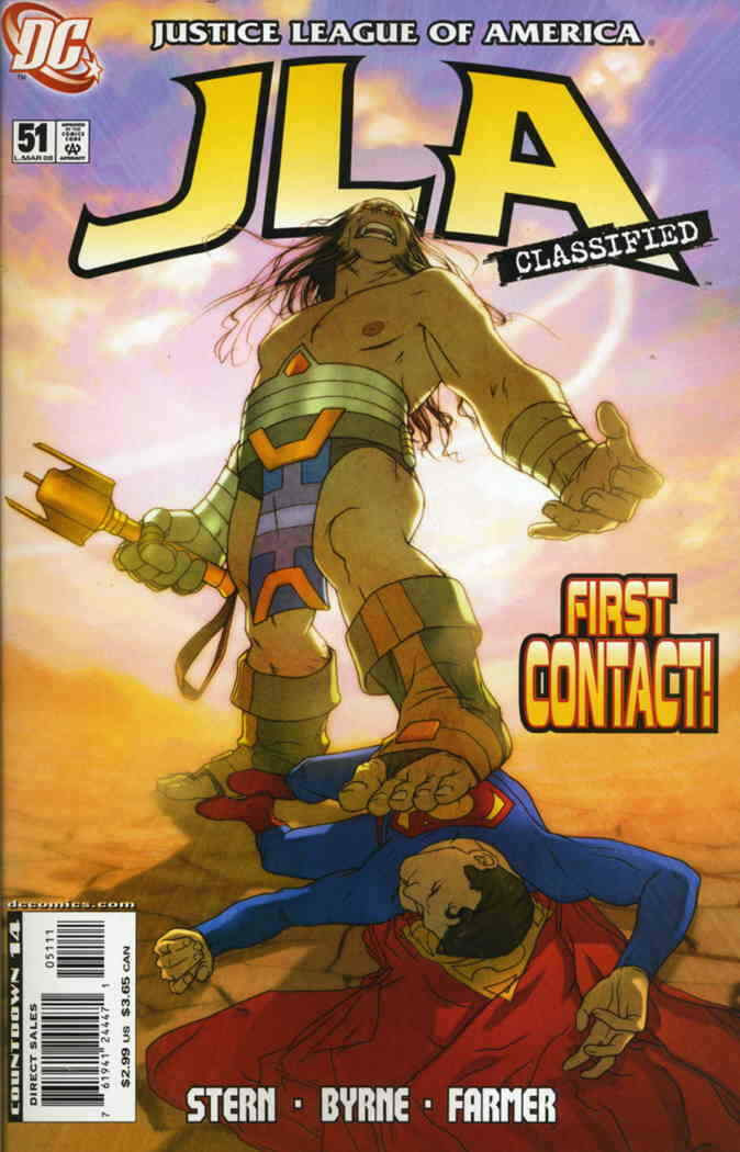 Couverture de JLA: Classified (DC comics - 2005) -51- That Was Now, This is Then, Part Two: First Contact