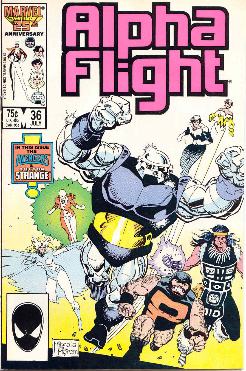 Couverture de Alpha Flight (Marvel comics - 1983) -36- Labor Pains