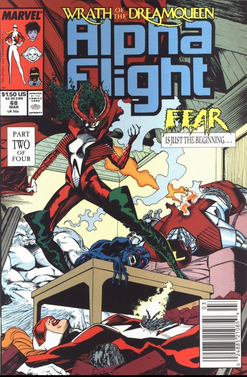 Couverture de Alpha Flight (Marvel comics - 1983) -68- Wrath of the Dreamqueen (Part 2): All That We Are...